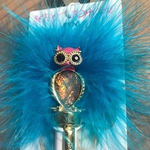 Betsey Johnson owl pen NWT
